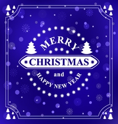 Happy new year message Merry Christmas holidays vector image