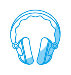 headphone gadget icon vector image