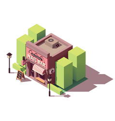 Isometric nail bar building vector