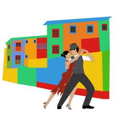La boca and tango vector