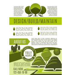Landscaping and gardening business poster vector