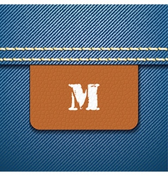 M size clothing label - vector