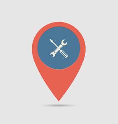 map pin service vector image