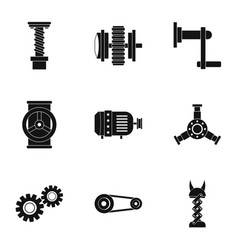 Mechanical gear icon set simple style vector