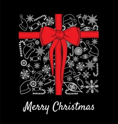 merry christmass paketic1 resize vector image