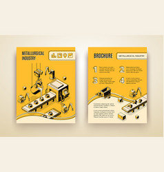 Metallurgical industry company brochure vector