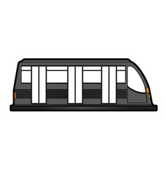 modern high speed train icon image vector image