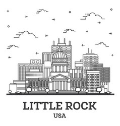 Outline little rock arkansas usa city skyline vector