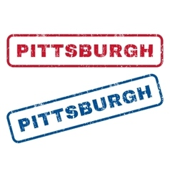 Pittsburgh rubber stamps vector