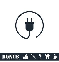 Plug icon flat vector image