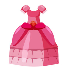 Princess dress icon cartoon style vector