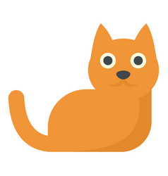 Red hair cat icon flat style vector