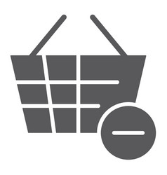 Remove from bucket glyph icon shopping and vector