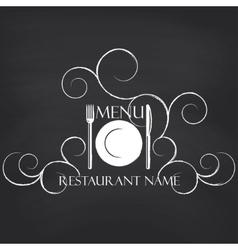 Restaurant menu on blackboard background vector