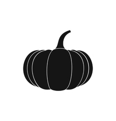 Ripe pumpkin icon simple style vector