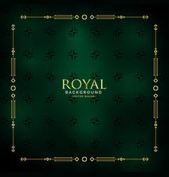 royal golden background design vector image