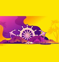 sea island banner vector image