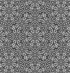 seamless floral monochrome pattern vector image
