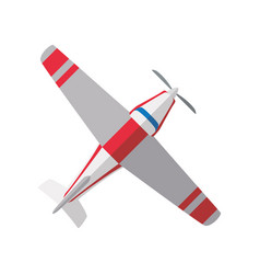 small airplane isolated vector image
