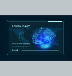 smart internet thingsnetworking futuristic vector image