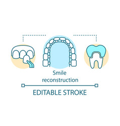 Smile reconstruction concept icon vector
