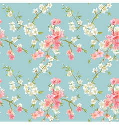Spring Blossom Flowers Background vector