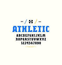 Stock serif font vector