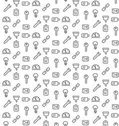 Technical tools pattern seamless vector image
