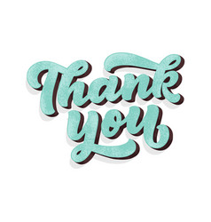 thank you handwritten inscription hand drawn 3d vector image