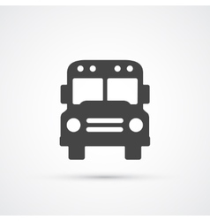 Trendy flat Bus icon vector image