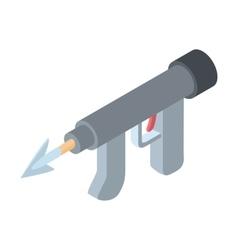 Underwater fishing speargun icon cartoon style vector image