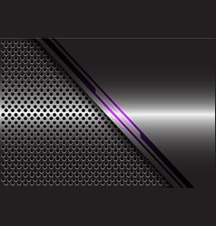 violet light line energy grey metal circle mesh vector image