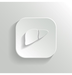 Liver icon - white app button vector image