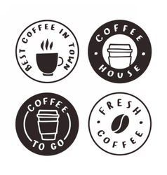Coffee badges Logotypes labels vector image vector image