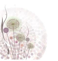 Gentle floral background vector image vector image