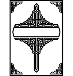 gothic frame vector image