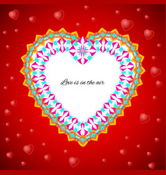 greeting card template to valentines day vector image
