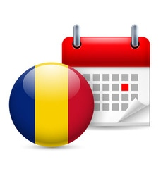 Icon of national day in romania vector image