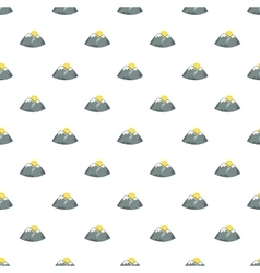 Mountains and sun pattern cartoon style vector
