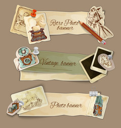 Paper Photo Banners vector image