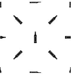 vinegar bottle pattern seamless black vector image
