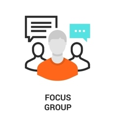 focus group icon vector image vector image
