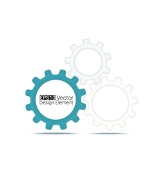 gears wireframe vector image