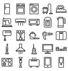 Home Appliances linear icons vector image vector image