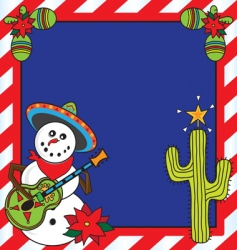 mexican Christmas card vector image vector image