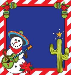 mexican Christmas card vector image