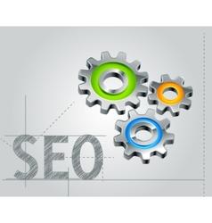 seo concept vector image vector image