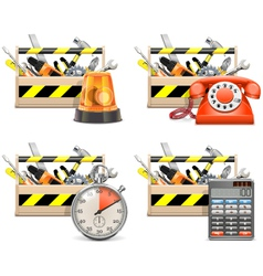Toolbox Icons set 2 vector image