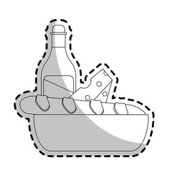 baguette french icon image vector image