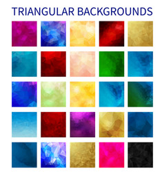 big set of colorful triangular backgrounds vector image